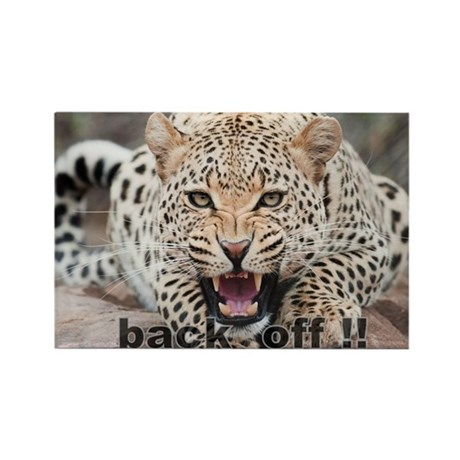 angry cheetah Rectangle Magnet