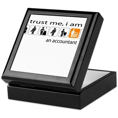 Trust me, I am an accountant Keepsake Box