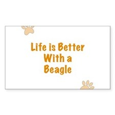Life is better with a Beagle Decal
