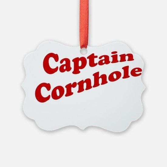 Captain Cornhole Ornament