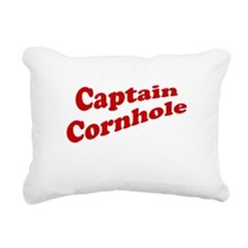 Captain Cornhole Rectangular Canvas Pillow