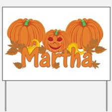 Halloween Pumpkin Martha Yard Sign