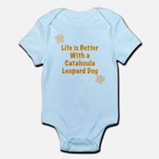 Life is better with a Catahoula Leopard Dog Onesie