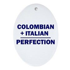 Italian + Colombian Oval Ornament