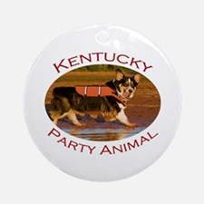 Kentucky Party Animal Ornament (Round)