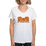 Halloween Pumpkin Maureen Women's V-Neck T-Shirt