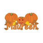 Halloween Pumpkin Maureen 35x21 Wall Decal