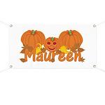 Halloween Pumpkin Maureen Banner