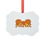 Halloween Pumpkin Maureen Picture Ornament
