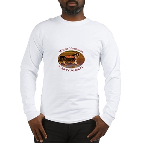 West Virginia Party Animal Long Sleeve T-Shirt