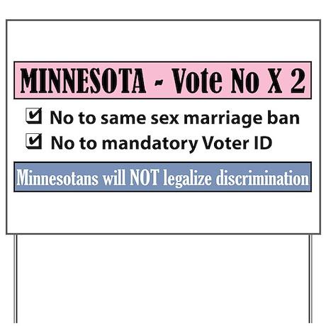 Vote No Minnesota! Yard Sign