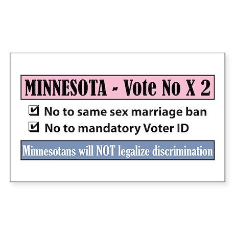 Vote No Minnesota! Sticker (Rectangle)