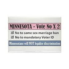 Vote No Minnesota! Rectangle Magnet