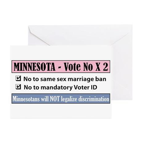 Vote No Minnesota! Greeting Cards (Pk of 20)