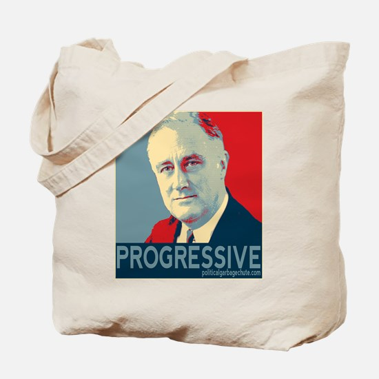 "FDR - ""PROGRESSIVE"" Tote Bag"