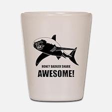 Honey Badger Shark Shot Glass