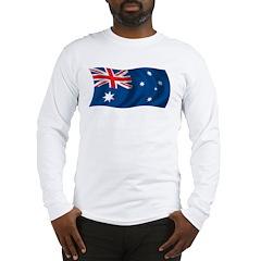 Wavy Australia Flag Long Sleeve T-Shirt