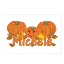 Halloween Pumpkin Michele Postcards (Package of 8)