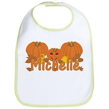 Halloween Pumpkin Michelle Bib