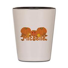 Halloween Pumpkin Michelle Shot Glass