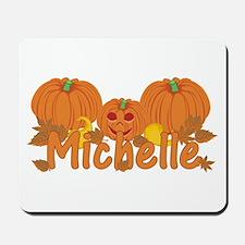 Halloween Pumpkin Michelle Mousepad