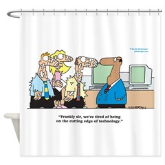 Cutting Edge of Technology Shower Curtain