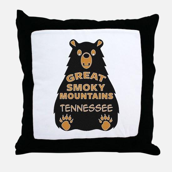 Great Smoky Mountains National Park T Throw Pillow