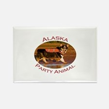 Alaska Party Animal Rectangle Magnet