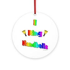 I Ring Handbells Ornament (Round)