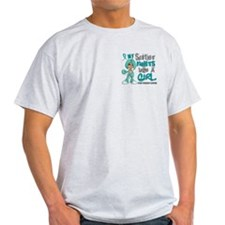 Fights Like a Girl 42.9 Ovarian Cancer T-Shirt