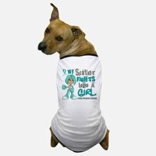 Fights Like a Girl 42.9 Ovarian Cancer Dog T-Shirt