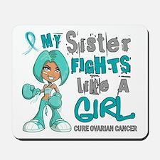 Fights Like a Girl 42.9 Ovarian Cancer Mousepad