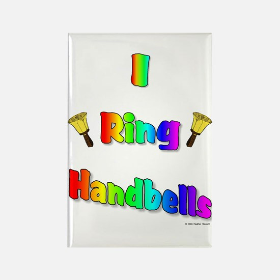I Ring Handbells Rectangle Magnet