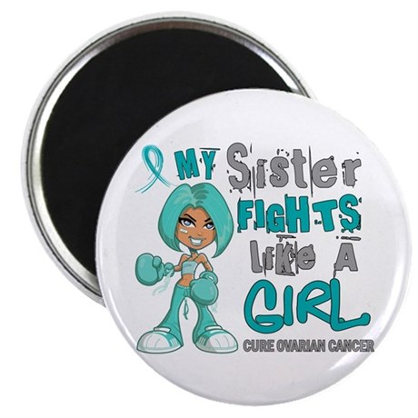 "Fights Like a Girl 42.9 Ovarian Cancer 2.25"" Magne"