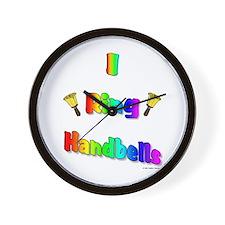 I Ring Handbells Wall Clock