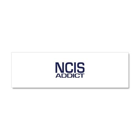 NCIS addict Car Magnet 10 x 3