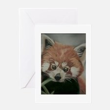 Red Panda - Painting Done in Pastels Greeting Card