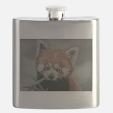 Red Panda - Painting Done in Pastels Flask