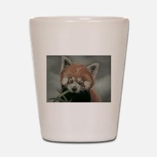 Red Panda - Painting Done in Pastels Shot Glass