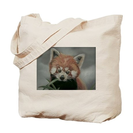 Red Panda - Painting Done in Pastels Tote Bag
