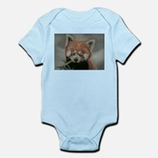 Red Panda - Painting Done in Pastels Infant Bodysu