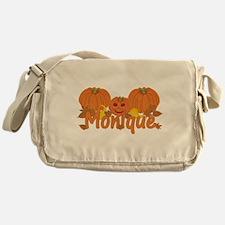 Halloween Pumpkin Monique Messenger Bag
