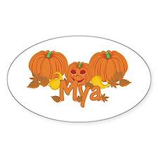 Halloween Pumpkin Mya Decal