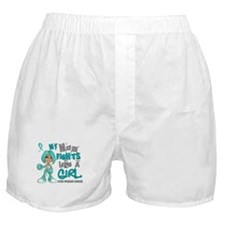 Fights Like a Girl 42.9 Ovarian Cancer Boxer Short