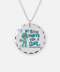 Fights Like a Girl 42.9 Ovarian Cancer Necklace