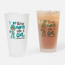Fights Like a Girl 42.9 Ovarian Cancer Drinking Gl