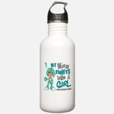 Fights Like a Girl 42.9 Ovarian Cancer Water Bottle