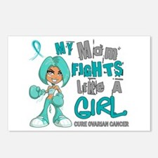 Fights Like a Girl 42.9 Ovarian Cancer Postcards (