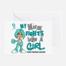Fights Like a Girl 42.9 Ovarian Cancer Greeting Ca