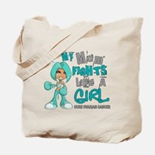Fights Like a Girl 42.9 Ovarian Cancer Tote Bag